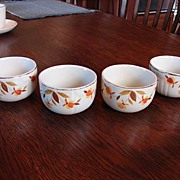 Hall�s China Jewel Tea Autumn Leaf Custard Cups Free Shipping