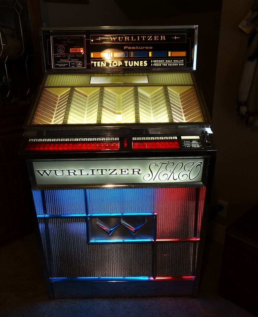Rare Classic 1963 Wurlitzer Jukebox Model 2700 Multi Selector Stereo Phonograph Professionally Restored and Chromed M/NM