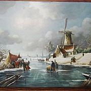 SALE Jan Franken 1878-1959 Antique Dutch Painting Oil on Board