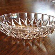 Val St Lambert Crystal Cut Bowl Dish Vintage  French Crystal