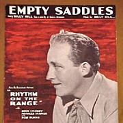 SALE 1936 Movie Sheet Music Bing Crosby EMPTY SADDLES