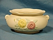 :    Hull Art Pottery  USA 113-7 Jardinire Open Rose Matte Mid 1940s