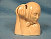 Hull Art Pottery USA Figural Woman Madonna Head Vase # 204