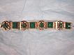 Early 20th Century Taxco Mexican Sterling Silver Jade Bakelite Bracelet