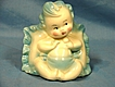 Hull Art Pottery Glossy Baby with Pillow Planter Blue Mint