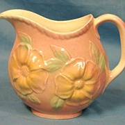 SALE Hull Art Pottery USA Pitcher Sunglow Glossy 52 24oz 1952 Pink