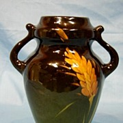 SALE Art Pottery Weller Lonhuda Louwelsa Vase Wheat