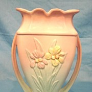 Hull Art Pottery Iris Matte Large Vase #405 American Art Pottery USA