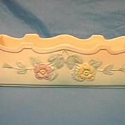 Hull Art Pottery USA Window Box Planter Vase Dogwood Matte Pattern Scarce