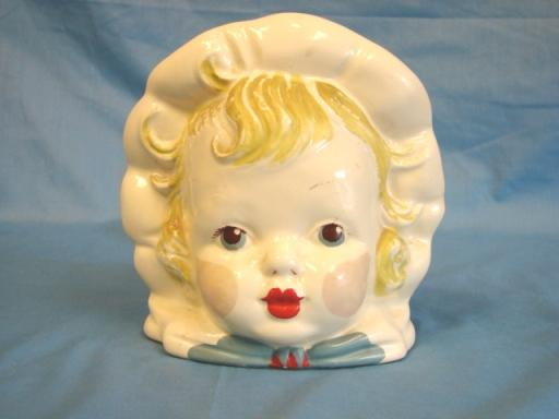 Hull USA Art Pottery Baby Full Head Vase USA #62 Rare