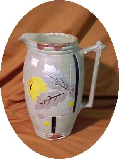 Pitcher Earthenware Art Pottery Art Deco