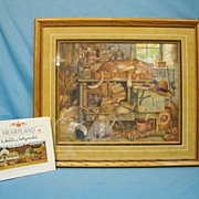 Charles Wysocki Remington The Horticulturist Limited Edition Print & Heartland Book Custom Fra