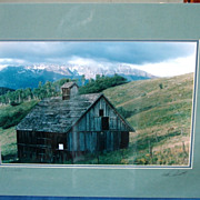 Barn at &quot;Telluride&quot; San Juan Mountains Professional Photograph Signed Derick