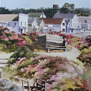 "Erin Dertner Limited Edition Print ""Our Town� Scarce!"