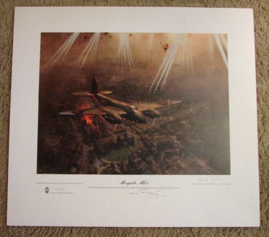 Pilot Vi Home: Scarce Aviation WWII Limited Edition Print Terence Cuneo