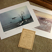 Set Aviation WWII Limited Edition Prints John Young &quot;Evening Patrol&quot; & Denis Pannett