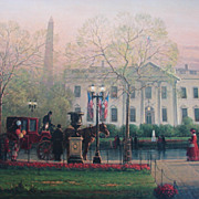 "G. Harvey Limited Edition Print  ""1600 Pennsylvania Avenue"" Historical Treasury Coll"