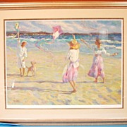 SALE Kite Festival Beach Scene Limited Edition Artist Proof Signed Don Hatfield AP#38/64 Custo