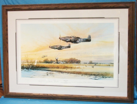 Robert Taylor Closed Limited Edition WWII Print Home At Dusk Custom Conservation Framed  Pilots Signed