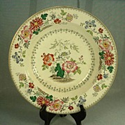 SALE Early 1800's Davenport Chinese Floral Bowl, Gilt Trim