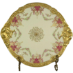 Heavily Gilded Limoges Cake Plate Serving Tray