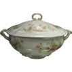 Wm Guerin Limoges Porcelain Lidded Soup Tureen, Pink Roses