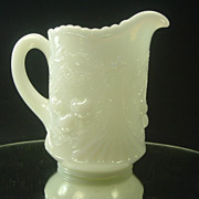 SALE Dugan Wreathed Cherries White Opalescent Creamer