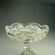 American Brilliant Period Cut Glass Comport