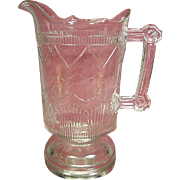 Antique EAPG Pitcher U.S. or Doyle's Comet, late 1800's