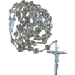 Vintage Creed Sterling & Crystal Rosary with Original Mesh Case