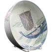 Japanese Imari Porcelain Bowl Hokusai Print of Fishermen ca 19th c.