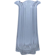 "SALE McKee Pillar Mold 12"" Glass Vase Pressed Glass ca. 1900"