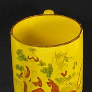SALE Child's Canary Yellow Mug Cup Transfer Printed English ca 1815