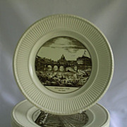 SALE Wedgwood Edme Piranesi Plates Italian Architecture Transferware Set of 4