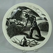 SALE PENDING Wedgwood Clare Leighton FARMING Plate 10 ��  New England Industries c.1952