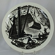 SALE PENDING Wedgwood  Clare Leighton MARBLE QUARRYING  Plate 10 �� Queens Ware New England In