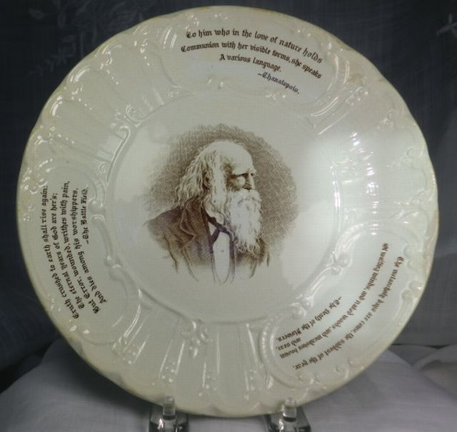 "Wedgwood Poet & Heroes 8 1/2"" Plate William Cullen Bryant 1894 England"