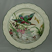 SALE Wedgwood Flying Kingfisher Bird Plate Painted and Printed ca 1927