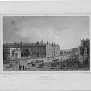 J.M.Kolb &quot;Berlin&quot; Steel Engraving 19th c. Germany