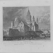 Joh. Poppel &quot;Der Dom in Mainz&quot; 19th c. Steel Engraving St. Martin's Cathedral