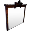 Walnut Victorian Large Mantle Mirror
