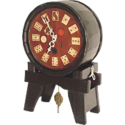 Keg Clock with Elk, Poker Chips, BPOE Allentown