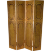 Wooden Folding Screen, Classical Design, 4 Panel