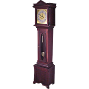 Mahogany Grandfather Clock, Tall Clock with Gong