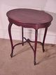 Inlaid Mahogany Oval Table, End Table