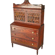Sheraton Mahogany Secretary
