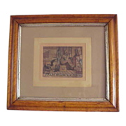 Rare 1880's Framed Chromolithograph of a young &quot;Uncle Sam&quot; and Miller's Boot Black
