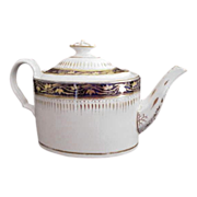 English Porcelain Coalport Teapot c.1805