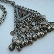 Vintage Tribal Bedouin Hand Made Silver Necklace