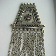 Vintage Tribal Afghan Bedouin Silver Hand Made Pendant